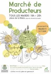 marché de producteur Saint Julien en Genevois